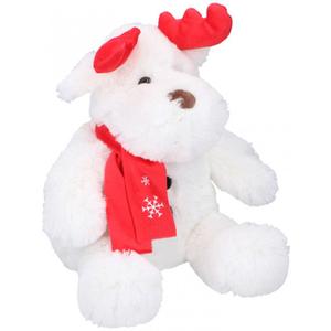 Dika toys Jelen bijeli 25cm svira i svijetli, plišana igračka