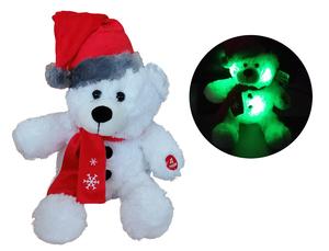 Dika toys Medo bijeli 25cm svira i svijetli, plišana igračka