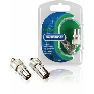 Bandridge BPP655, antenski konektori, muški i ženski, srebrni