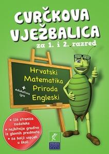 Cvrčkova vježbalica - hrvatski-priroda-matematika-engleski  1-2 razred, grupa autora