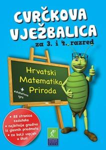 Cvrčkova vježbalica hrvatski-priroda-matematika 3-4 razred, grupa autora