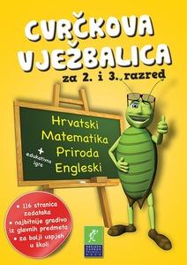 Cvrčkova vježbalica hrvatski-priroda-matematika-mozgalice 2-3 razred, grupa autora
