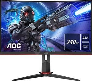 AOC monitor C27G2ZU, VA, Zakrivljeni, 240Hz, HDMI x 2, DP, USB, 0.5ms