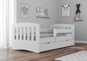 Drveni dječji krevet Classic s ladicom 180*80 cm - bijeli*RASPRODAJA_oštećen_TPNJ