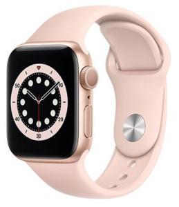 APPLE Watch S6 GPS, 40mm, Gold Aluminium Case with Pink Sand Sport Band, pametni sat