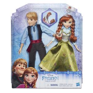 Frozen modne lutke, 2 pack Anna i Kristoff