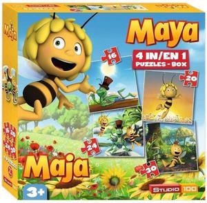 Pčelica Maja - puzzle 4 u 1