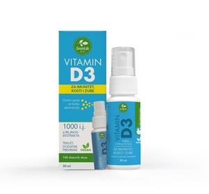 GreenLab Vitamin D3 oralni sprej, 30 ml