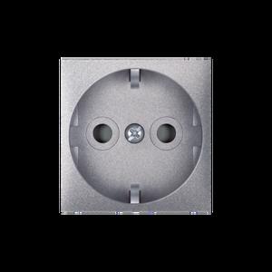 ALING CONEL modularna šuko utičnica dvopolna s zaštitom dodira 16A 250V~ EXP 2M  , srebrna