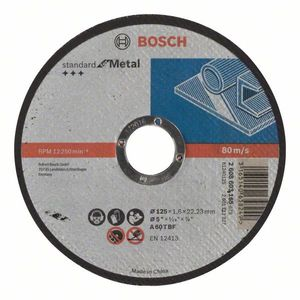 BOSCH standard rezna ploča za metal, ravna  125 x 1,6 x 22,23 - 25 komada