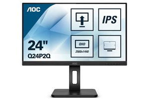 AOC monitor Q24P2Q, IPS, QHD, Pivot, HDMI, DVI, DP, USB3.0