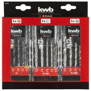 KWB set svrdla 15/1 (5x drvo / 5x beton / 5x metal)