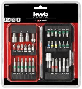 KWB set bitova 34/1, u plastičnom kovčegu