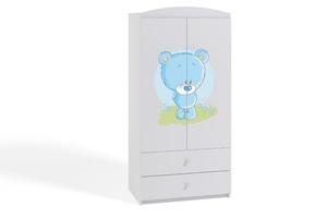 Dječji ormar - plavi medvjedić - bijeli