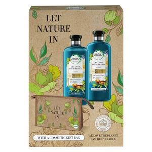 Herbal Essences poklon paket ženski (šampon 400 ml, regenerator 360 ml, poklon torbica)