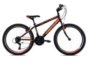 CAPRIOLO dječji bicikl RAPID 240 24'/18H crno/narančasti