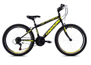 CAPRIOLO dječji bicikl RAPID 240 24'/18H crno/žuti