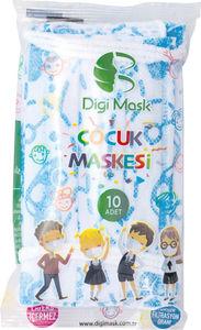 Dječje jednokratne maske, oslikane, za dječake, 10 komada