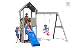 Fungoo drveno dječje igralište CAROL 2 sivi set