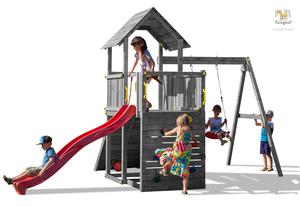 Fungoo drveno dječje igralište CAROL 3 sivi set