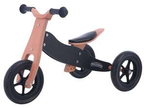 Free2Move drveni školski tricikl 2 u 1 crni