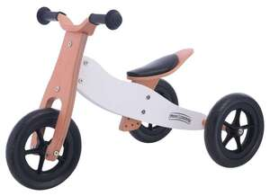 Free2Move drveni školski tricikl 2 u 1 bijeli
