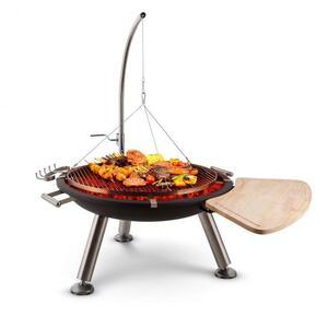 BLUMFELDT Turion okretni roštilj, barbecue, zdjela za vatru Ø80cm, nehrđajući čelik