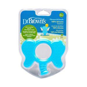 Dr.Brown's grickalica za desni, silikon - hladno/toplo -3+mj - plavi slonić