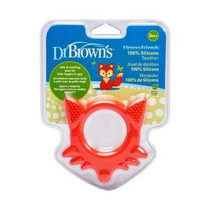 Dr.Brown's grickalica za desni silikon - hladno/toplo -3+mj - crvena maca