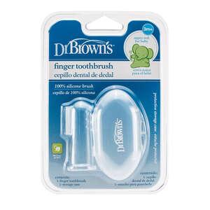 Dr.Brown's silikonska četkica za zube, za nataknuti na prst, s kutijicom - 3+mj