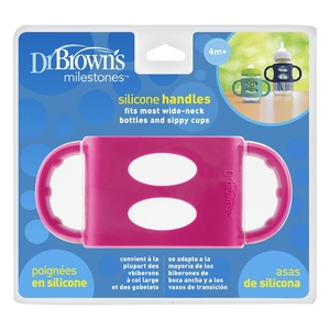 Dr.Brown's ručkice za bočicu široko grlo - roza