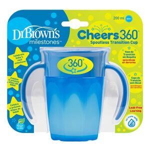 Dr.Brown's Cheers 360 pametna čaša, 200 ml - plava