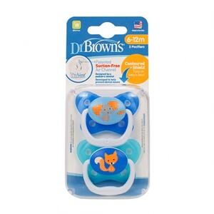 Dr.Brown's duda varalica Prevent - protiv križnog zagriza, RAZ 2 - 6-12 mj - 2 kom, Plava