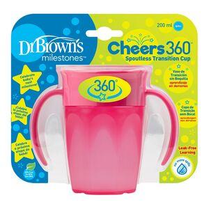 Dr.Brown's Cheers 360 pametna čaša, 200 ml - roza