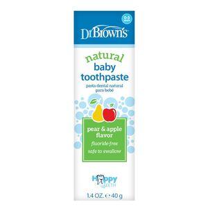 Dr.Brown's pasta za zube bez fluora - jabuka / kruška