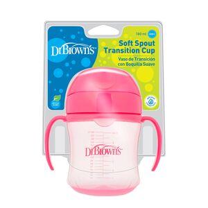 Dr.Brown's trening čaša (meki kljun), 6+ mj - 180 ml, roza