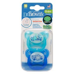 Dr.Brown's duda varalica Prevent - protiv križnog zagriza, RAZ 1 - 0-6 mj - 2 kom, Plava