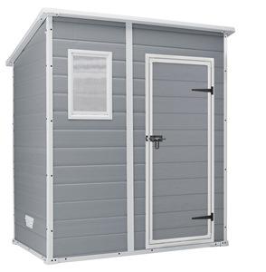 KETER MANOR PENT vrtna kućica 183,5x111x200,5cm - Siva / bijelo siva