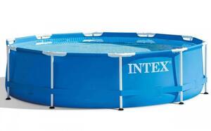 INTEX montažni bazen 457 x 122 cm  sa filter pumpom + podloga + pokrivalo za bazen + ljestve