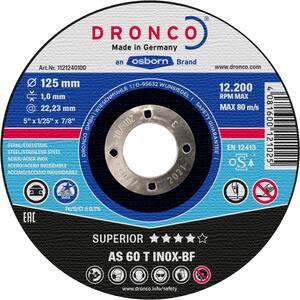 DRONCO rezna ploča 125x1 inox superior AS60T 25 komada