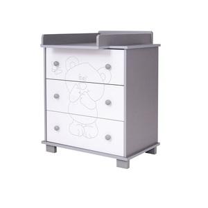 Drewex komoda za prematanje Medo i leptir (silver-white)