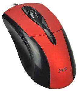 MS FOCUS C110, optički žični miš, crveni, 1 000 DPI