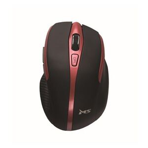 MS FOCUS M110, optički bežični miš, crveni, 1 600 DPI