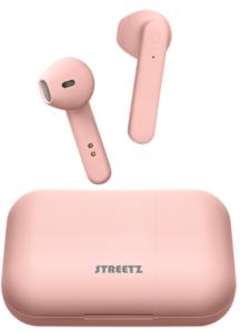 STREETZ slušalice TWS-106, mikrofon, Bluetooth, TWS, roza, 5 godina jamstva