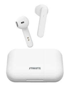 STREETZ slušalice TWS-1105, mikrofon, Bluetooth, TWS, bijele, 5 godina jamstva