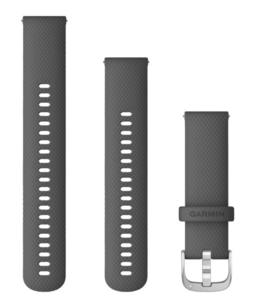 Garmin zamjenski remen 22mm - Shadow Gray (srebrna kopča) za vivoactive 4S / 4