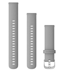 Garmin zamjenski remen 18mm - Powder Gray (srebrna kopča) za vivoactive 4S / 4