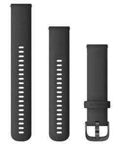 Garmin zamjenski remen za Venu 20mm - Black (siva kopča)