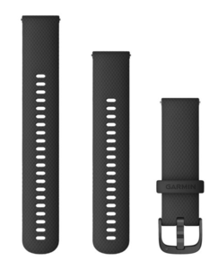 Garmin zamjenski remen 22mm - Black (siva kopča) za vivoactive 4S / 4