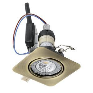 EGLO ugradbena/1, LED, gu10, 5 W, 87x87, 3000K, brunirano 'PENETO'